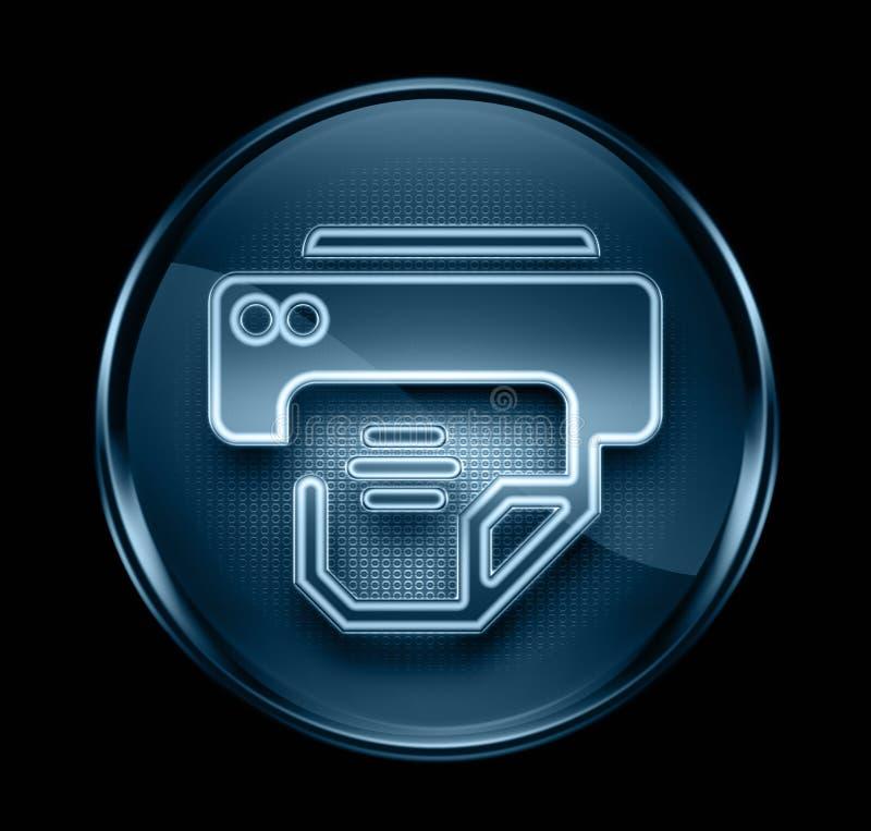 μπλε σκοτεινός εκτυπωτής εικονιδίων ελεύθερη απεικόνιση δικαιώματος