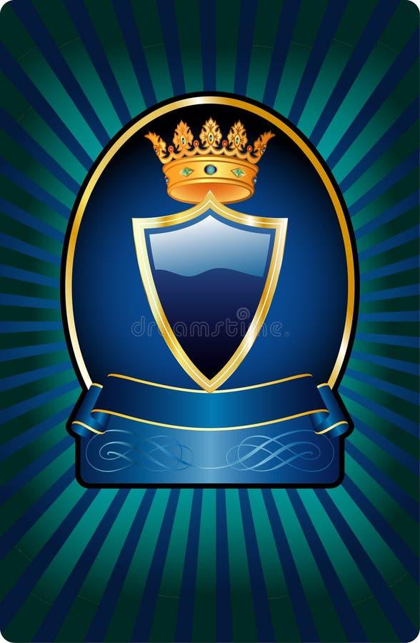 μπλε σκοτεινό μενταγιόν ετικετών ελεύθερη απεικόνιση δικαιώματος