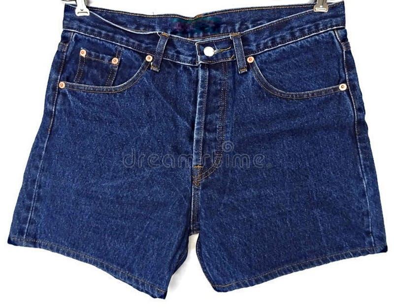 Μπλε σορτς Jean τζιν που απομονώνονται στοκ φωτογραφίες με δικαίωμα ελεύθερης χρήσης