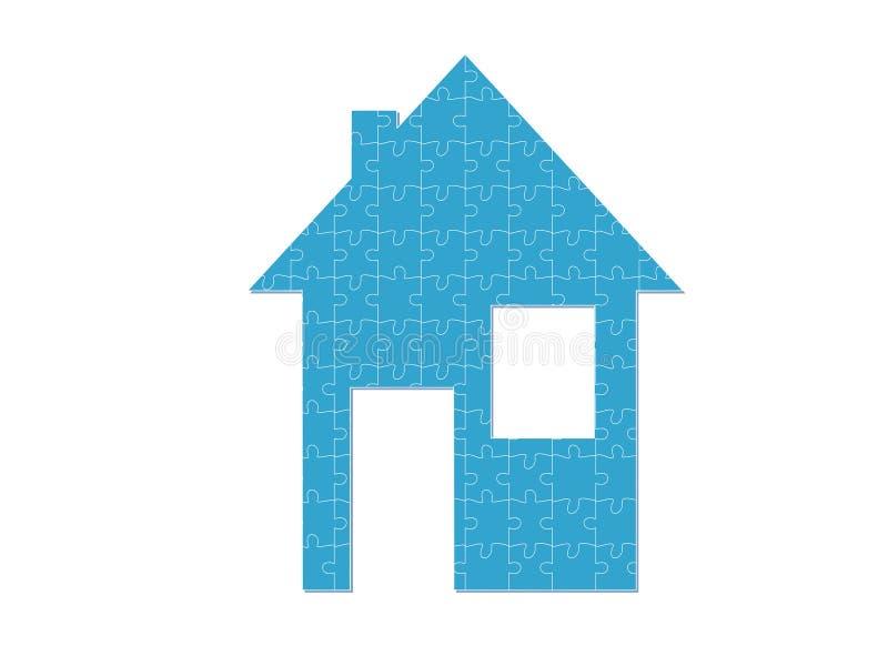 μπλε σπίτι ελεύθερη απεικόνιση δικαιώματος