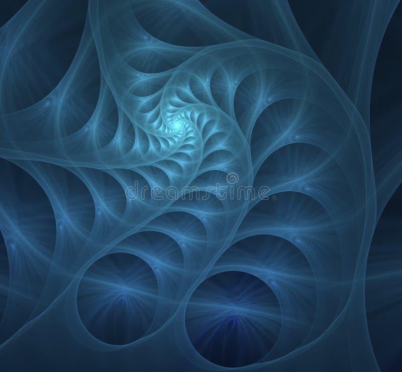 Μπλε σπειροειδής fractal εικόνα διανυσματική απεικόνιση