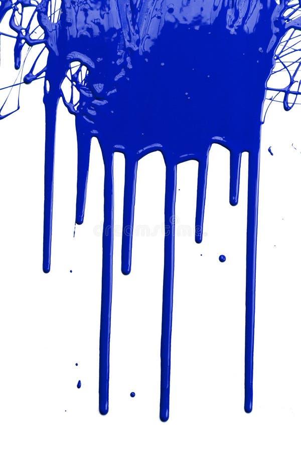 μπλε στάζοντας χρώμα στοκ φωτογραφία