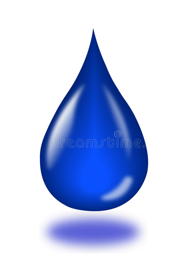 μπλε σταγονίδιο απεικόνιση αποθεμάτων