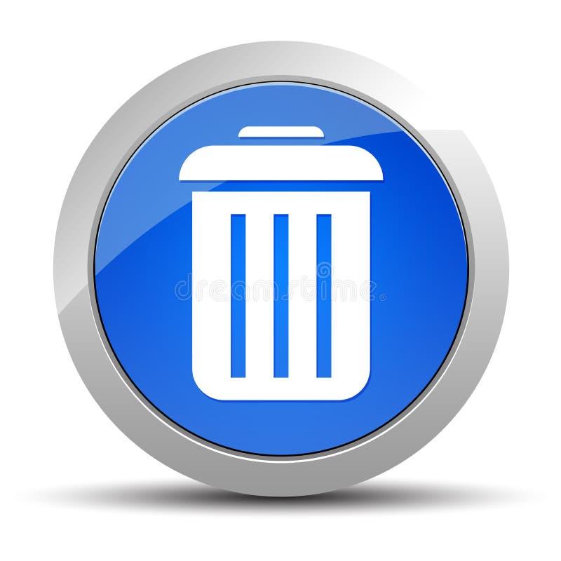 Μπλε στρογγυλή απεικόνιση κουμπιών εικονιδίων δοχείων απεικόνιση αποθεμάτων
