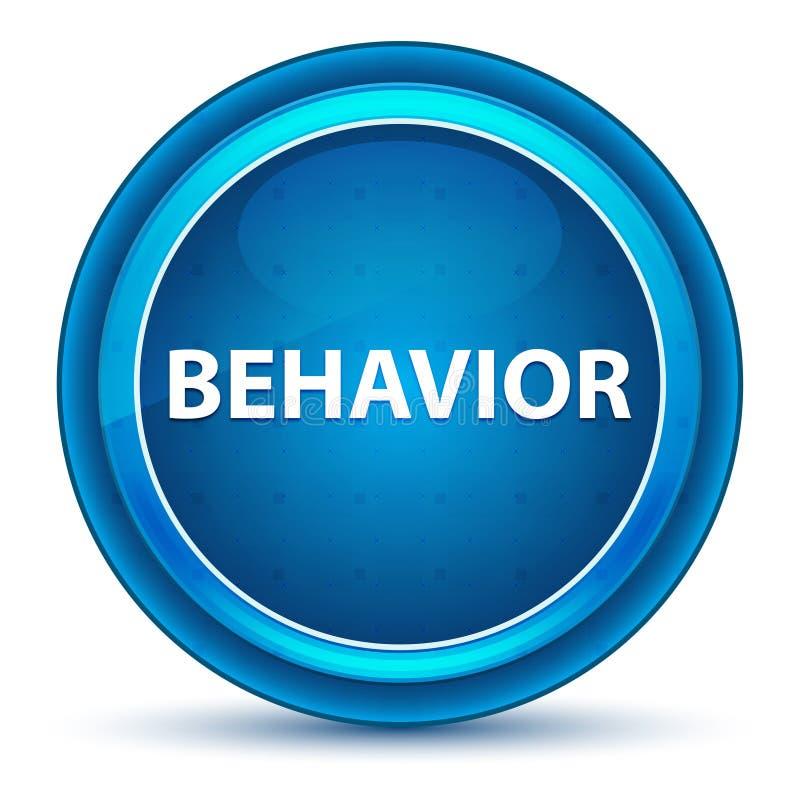 Μπλε στρογγυλό κουμπί βολβών του ματιού συμπεριφοράς ελεύθερη απεικόνιση δικαιώματος