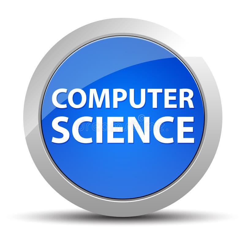 Μπλε στρογγυλό κουμπί πληροφορικής διανυσματική απεικόνιση