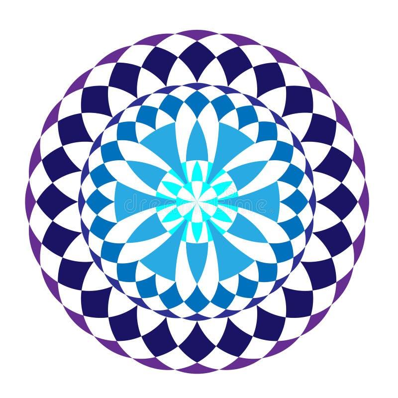 Μπλε στρογγυλό χειμερινό mandala απεικόνιση αποθεμάτων