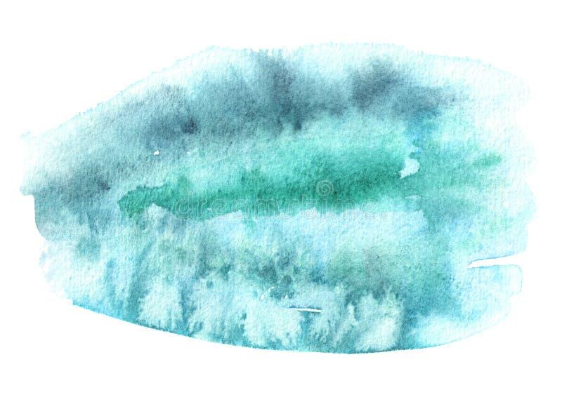 Μπλε συρμένη χέρι σύσταση υποβάθρου watercolor στοκ εικόνα με δικαίωμα ελεύθερης χρήσης