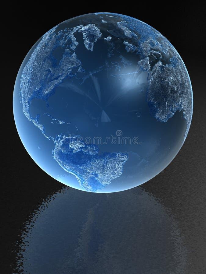 μπλε σφαίρα γυαλιού ελεύθερη απεικόνιση δικαιώματος