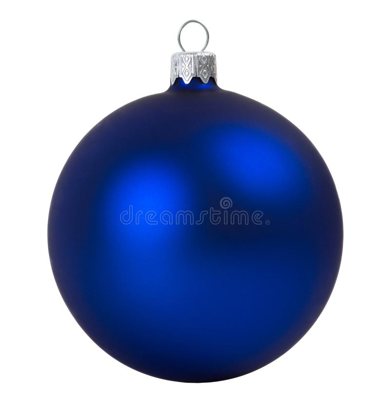 Μπλε σφαίρα Χριστουγέννων στοκ φωτογραφίες