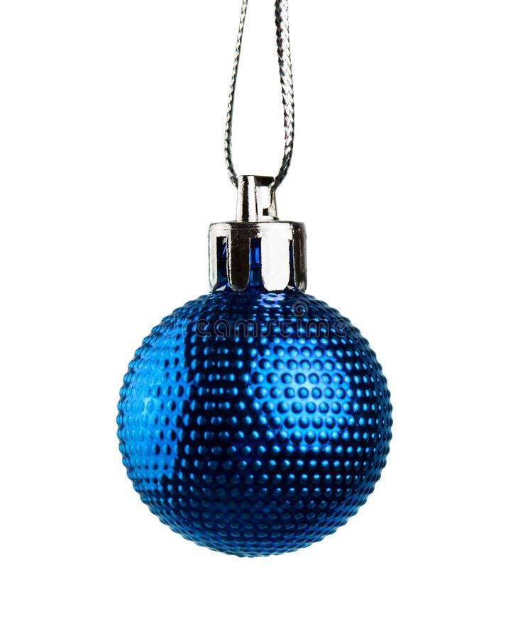 Μπλε σφαίρα Χριστουγέννων στοκ εικόνες