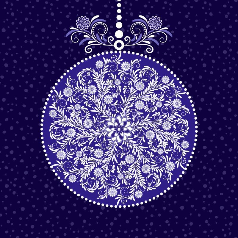 Μπλε σφαίρα Χριστουγέννων ελεύθερη απεικόνιση δικαιώματος