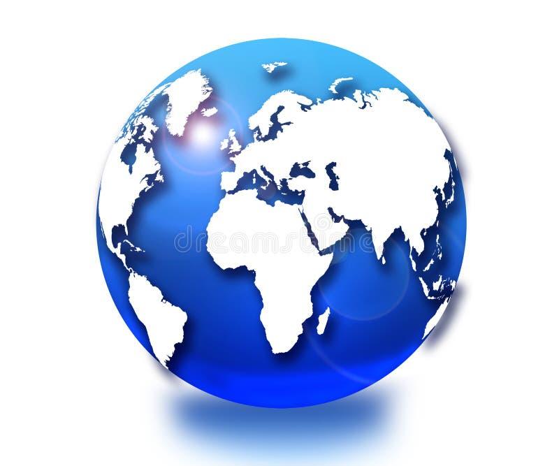 Download μπλε σφαίρα απεικόνιση αποθεμάτων. εικονογραφία από κόσμος - 17053851