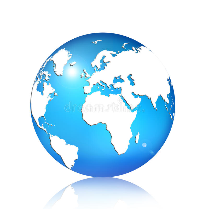 Download μπλε σφαίρα απεικόνιση αποθεμάτων. εικονογραφία από δίκτυο - 17054426