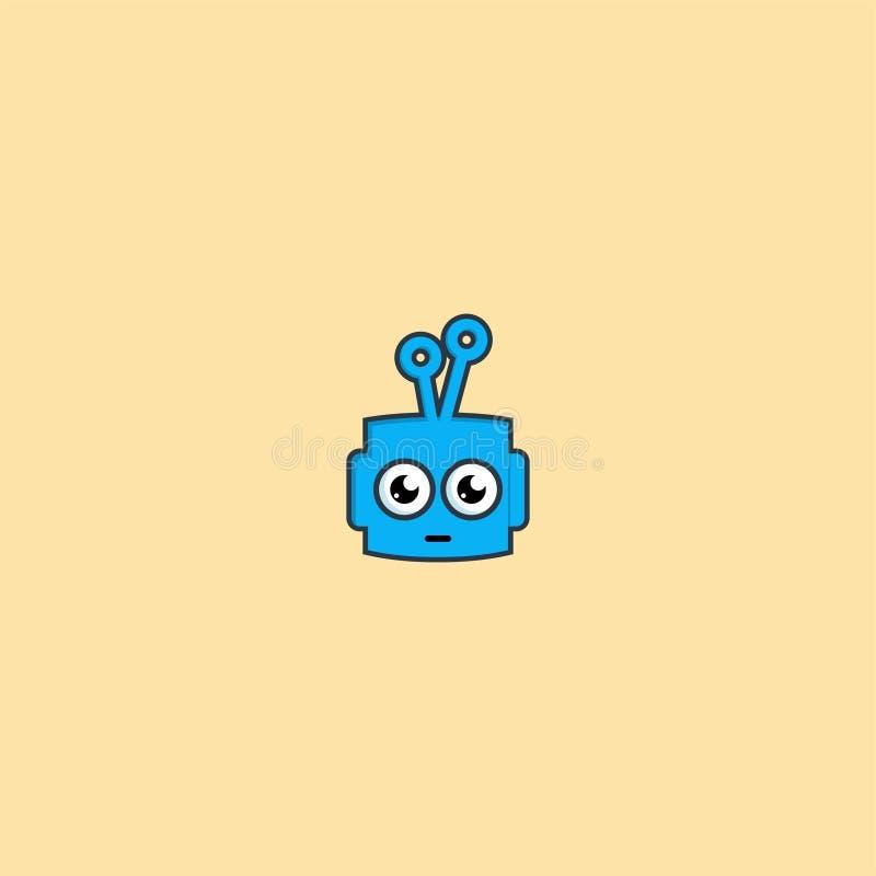 Μπλε σχέδιο λογότυπων ρομπότ διανυσματικό πρότυπο εικονιδίων Dan συμβόλων απεικόνιση αποθεμάτων