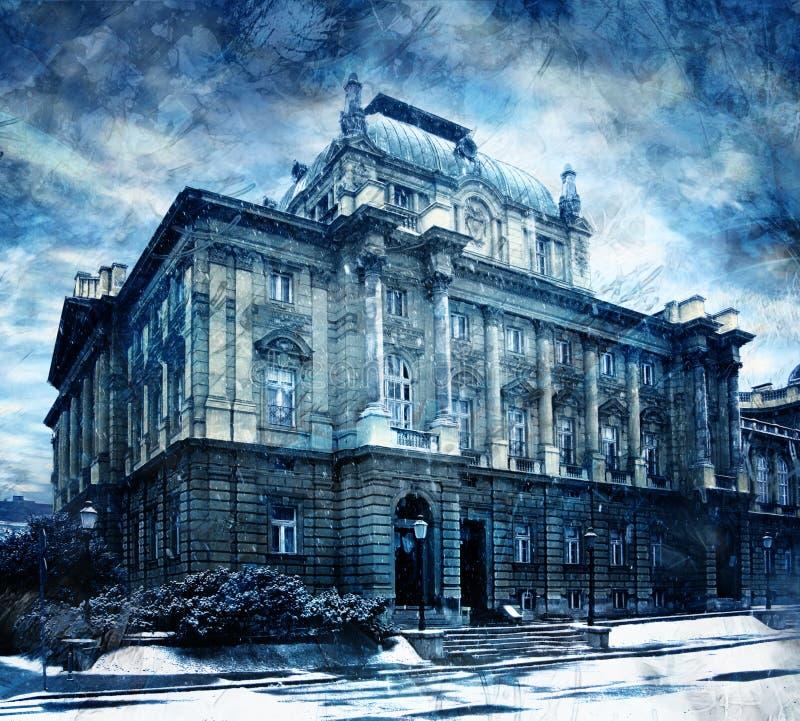 μπλε σχέδιο οικοδόμησης στοκ εικόνες με δικαίωμα ελεύθερης χρήσης