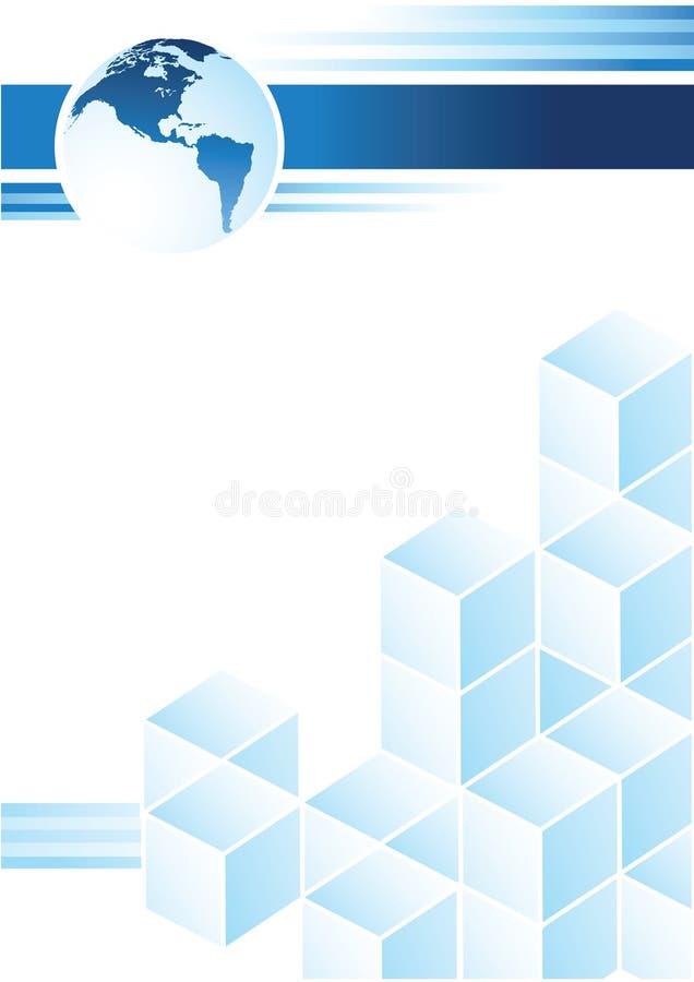 μπλε σχέδιο διανυσματική απεικόνιση