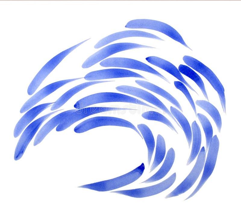 μπλε σχολείο ψαριών στοκ φωτογραφία με δικαίωμα ελεύθερης χρήσης