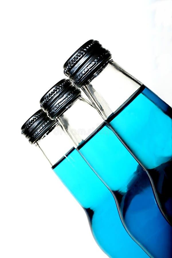 μπλε σόδα μπουκαλιών στοκ εικόνες με δικαίωμα ελεύθερης χρήσης
