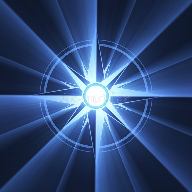 μπλε σύμβολο αστεριών φλ& απεικόνιση αποθεμάτων