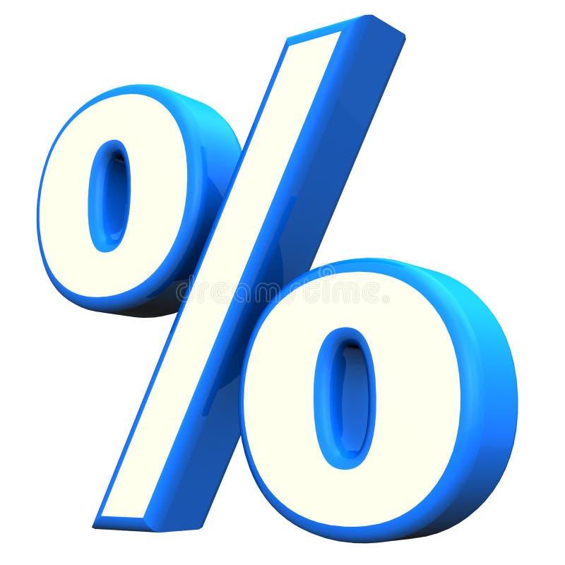 Μπλε σύμβολο τοις εκατό ελεύθερη απεικόνιση δικαιώματος