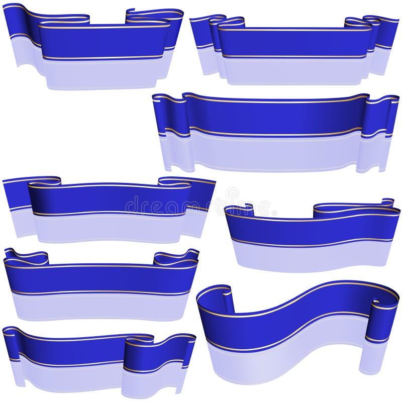 μπλε σύνολο εμβλημάτων απεικόνιση αποθεμάτων