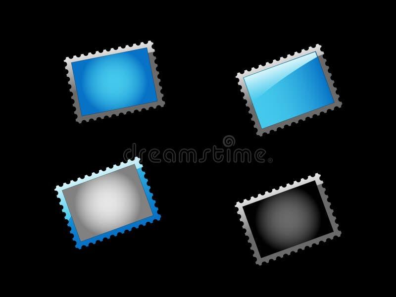μπλε σύνολο σημαδιών απεικόνιση αποθεμάτων