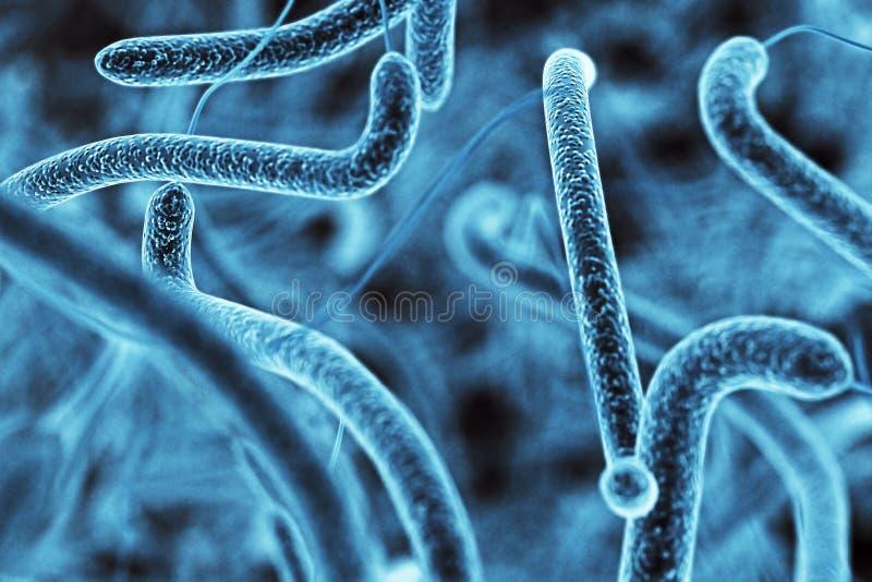Μπλε σύσταση βακτηριδίων ελεύθερη απεικόνιση δικαιώματος