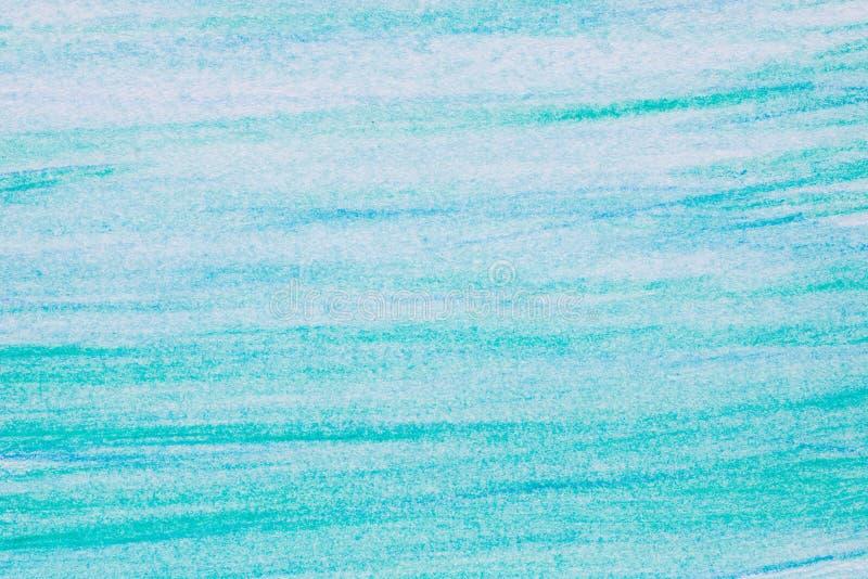 Μπλε σύσταση υποβάθρου σχεδίων κραγιονιών watercolor διανυσματική απεικόνιση