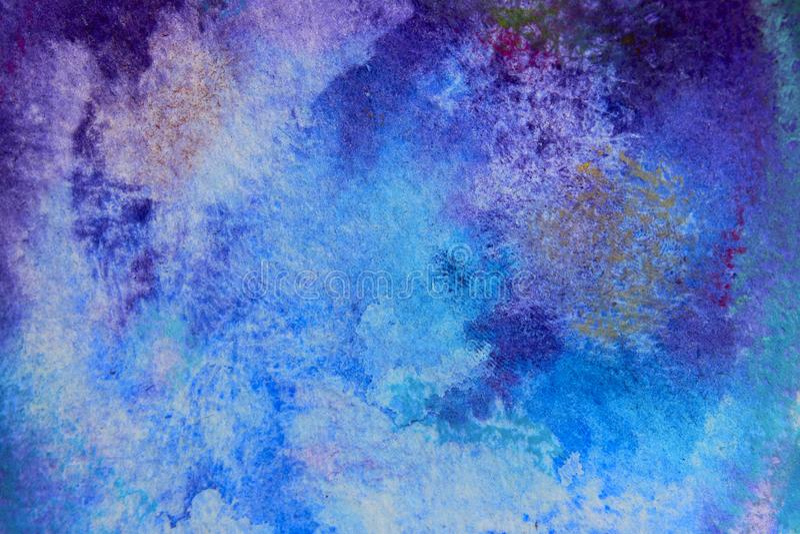 Μπλε σύσταση υποβάθρου Watercolor με πολύ διάστημα αντιγράφων για το κείμενο διανυσματική απεικόνιση