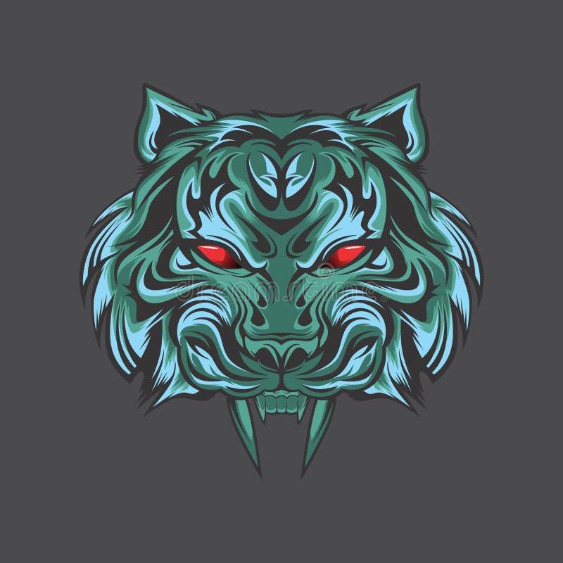 Μπλε τίγρη από τα darknes ελεύθερη απεικόνιση δικαιώματος
