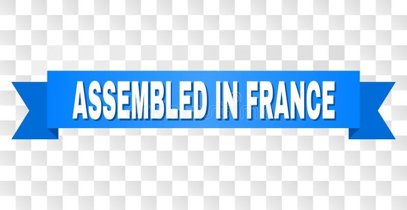 Μπλε ταινία με ΣΥΓΚΕΝΤΡΩΜΕΝΟΣ στον τίτλο της ΓΑΛΛΙΑΣ ελεύθερη απεικόνιση δικαιώματος