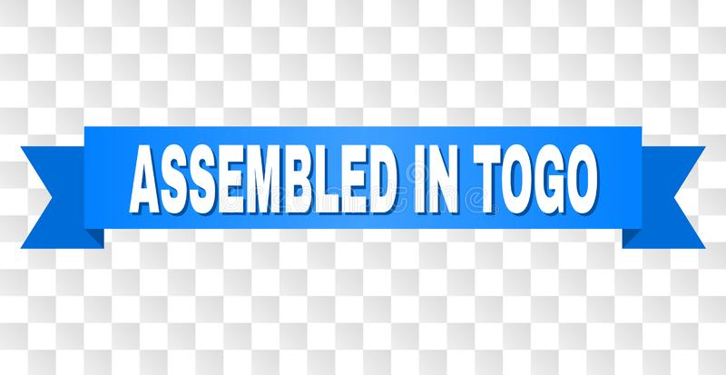Μπλε ταινία με ΣΥΓΚΕΝΤΡΩΜΕΝΟΣ στον τίτλο του ΤΟΓΚΟ διανυσματική απεικόνιση
