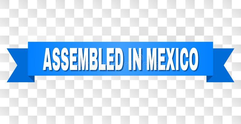 Μπλε ταινία με ΣΥΓΚΕΝΤΡΩΜΕΝΟΣ στο κείμενο του ΜΕΞΙΚΟΥ ελεύθερη απεικόνιση δικαιώματος