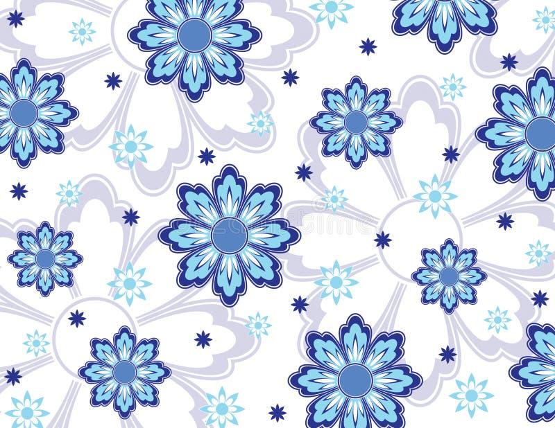 μπλε ταπετσαρία λουλουδιών απεικόνιση αποθεμάτων