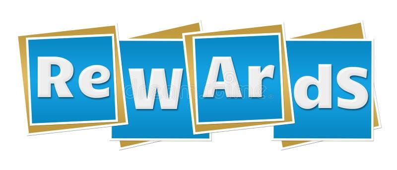 Μπλε τετράγωνα ανταμοιβών ελεύθερη απεικόνιση δικαιώματος