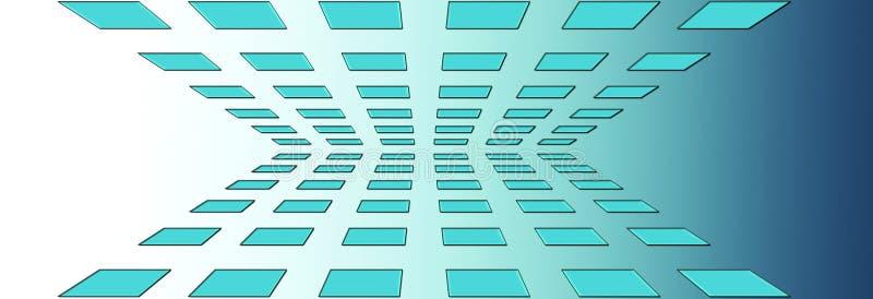 μπλε τετράγωνα προοπτικής απεικόνιση αποθεμάτων