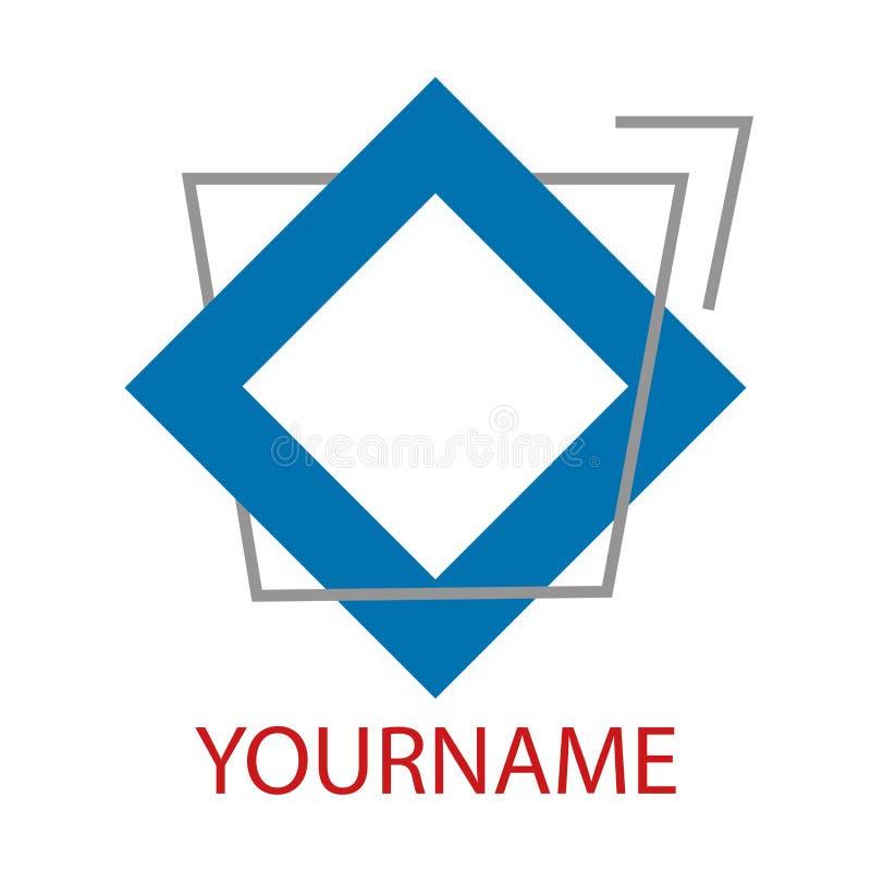 Μπλε τετραγωνικά και αφηρημένα στοιχεία λογότυπων πλαίσιο γεωμετρικό διάνυσμα απεικόνιση αποθεμάτων