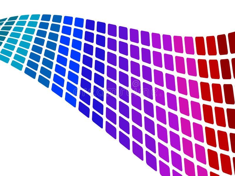 μπλε τετραγωνικό λευκό &kapp απεικόνιση αποθεμάτων