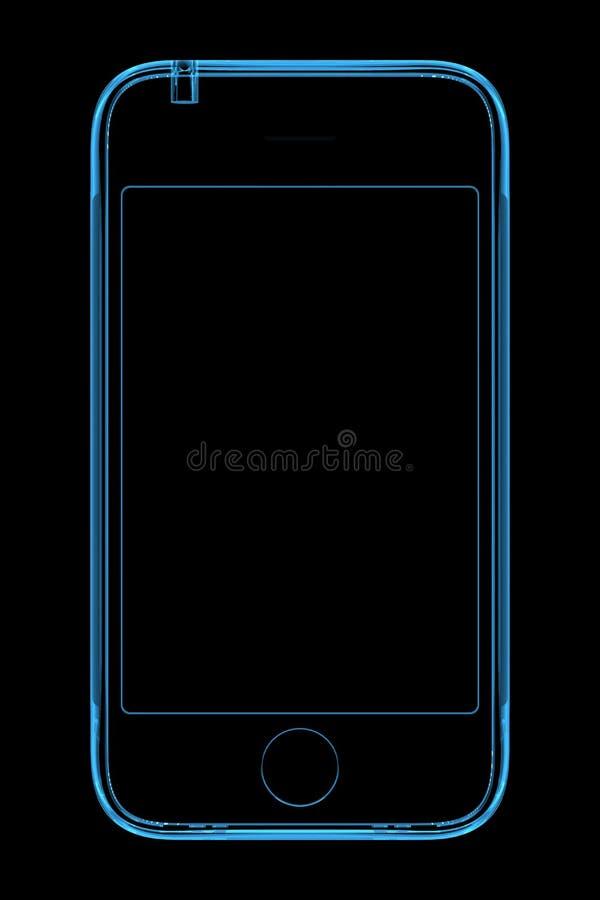 μπλε τηλεφωνική ακτίνα δι& ελεύθερη απεικόνιση δικαιώματος