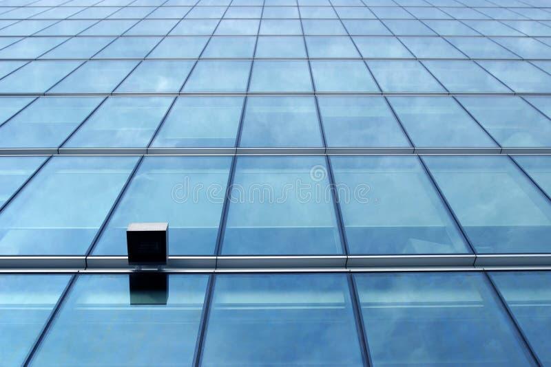 μπλε τοίχος γυαλιού στοκ φωτογραφία