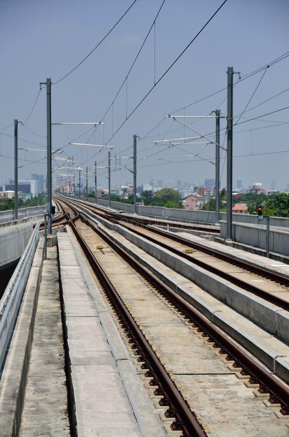 μπλε τραίνο ουρανού σιδηροδρόμων στοκ φωτογραφία με δικαίωμα ελεύθερης χρήσης