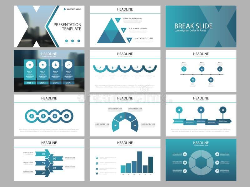 Μπλε τριγώνων πρότυπο παρουσίασης στοιχείων δεσμών infographic επιχειρησιακή ετήσια έκθεση, φυλλάδιο, φυλλάδιο, ιπτάμενο διαφήμισ ελεύθερη απεικόνιση δικαιώματος
