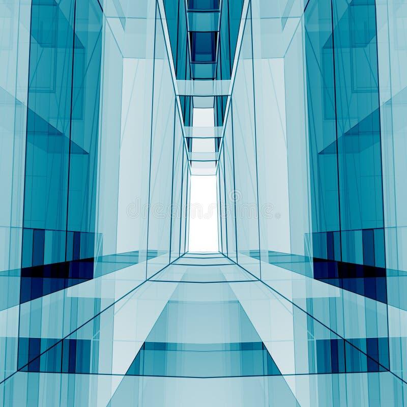 Μπλε τρισδιάστατη απόδοση κύβων στοκ εικόνες