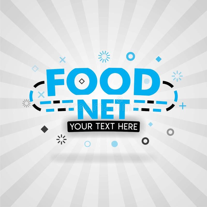 Μπλε τρόφιμα κάλυψης Cookbook και γρήγορες συνταγές γευμάτων με ένα δίκτυο των ιστοχώρων τροφίμων και των διάφορων yummy συνταγών διανυσματική απεικόνιση