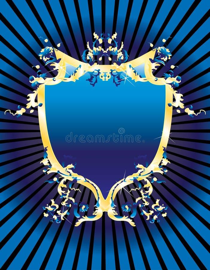 μπλε τρύγος εμβλημάτων διανυσματική απεικόνιση