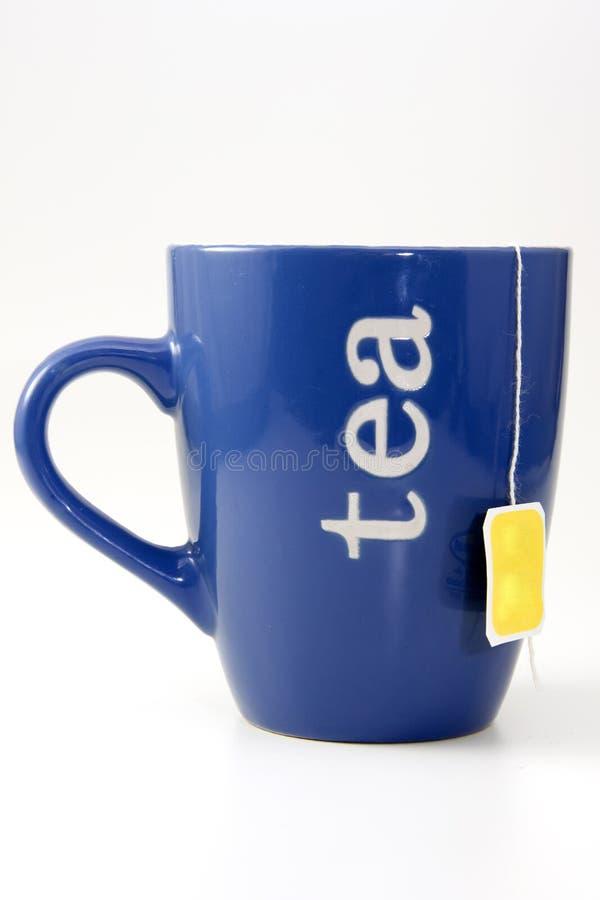 μπλε τσάι φλυτζανιών στοκ φωτογραφία