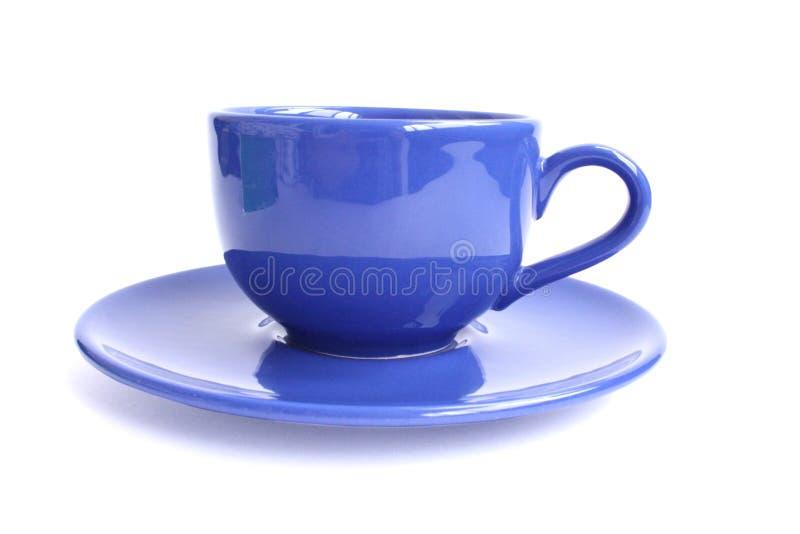 μπλε τσάι φλυτζανιών στοκ εικόνα