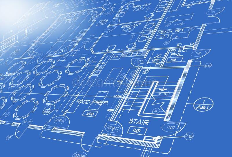 μπλε τυπωμένη ύλη σχεδίων ελεύθερη απεικόνιση δικαιώματος
