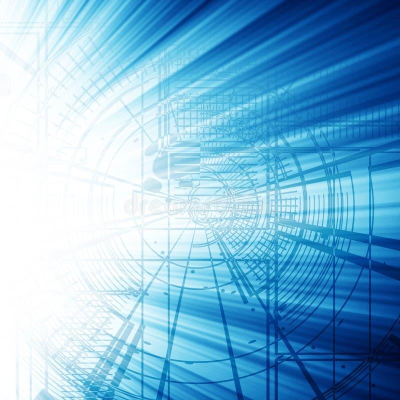 Μπλε τυπωμένη ύλη διανυσματική απεικόνιση